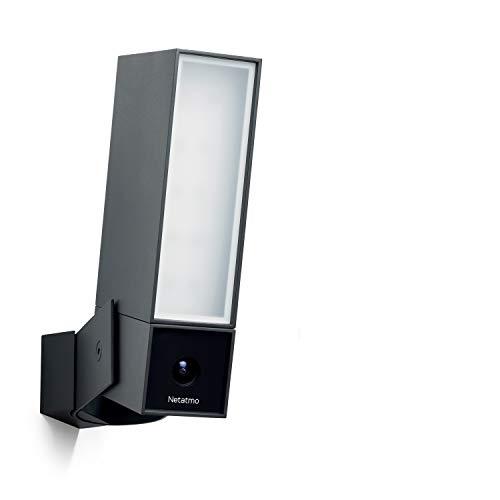 Netatmo Caméra de Surveillance Wi-FI extérieure Intelligente avec sirène 105 DB, Spot intégré, détection de mouvements, Vision Nocturne, sans coût additionnel, NOC-S-IB