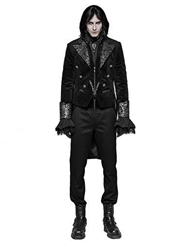 Punk Rave Schwarz Steampunk Gothic Schädel PU Leder Cosplay Fingerlose Handschuhe für Damen