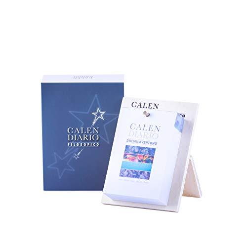 Calendario Con Frasi Filosofiche 2021 | Calendario Geniale Con Supporto in Legno, Inizia La Giornata Con il Sorriso, Perfetto per Casa e Ufficio, Idea Regalo, 365 Frasi Filosofiche