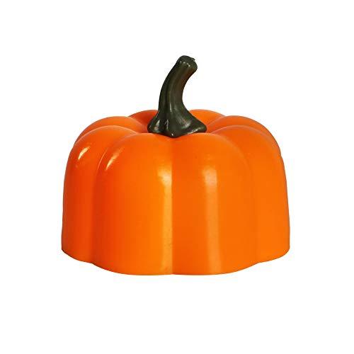 Lixada Halloween LED Pumpkin Lights Flameless LED Pumpkin Lantern Small Orange Flickering Tea Lights Jack-o-Lantern Style, for Halloween, Fall Festival Decorations