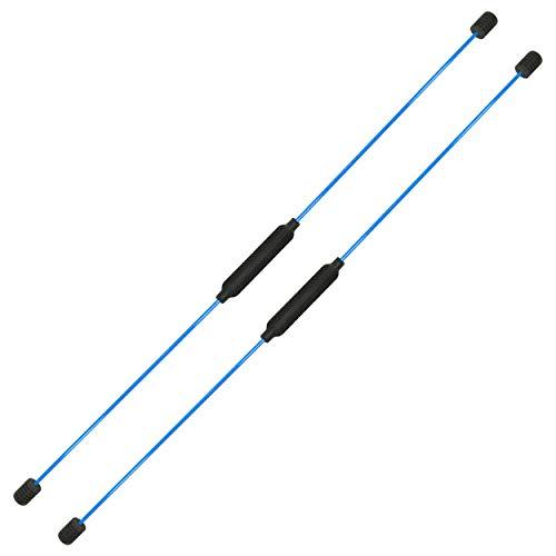 Best Sporting Swing Stick Fitness Schwingstab für Ganzkörpertraining, mit Trainingsanleitung, Farbe: rot oder blau (2 Swing Sticks blau)