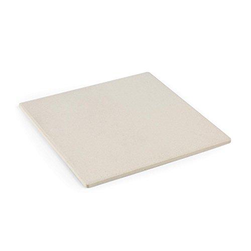 Klarstein Pizzaiolo Perfect - Pizzastein, Ersatzstein, Zubehör, Ersatzteil, 30,5 x 30,5 cm, 1 cm Dicker Schamotte-Stein, abwaschbar, extrem hitzebeständig, beige