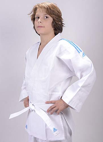 adidas Kinder Judo Anzug Evolution (inkl. Gürtel), Weiß (Brilliant white), 140/150, J250E
