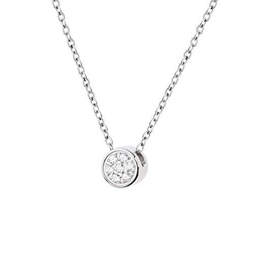 Collar Ernstes Design K782 colgante de circonita, acero inoxidable, cadena de ancla