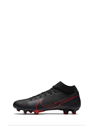 Nike Unisex-Adult Superfly 7 Academy FG/MG Football Shoe, Black/Black-Dark Smoke Grey-Chile Red, 44 EU