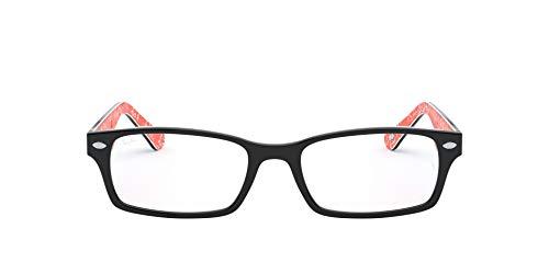 (レイバン) Ray Ban ブラック×ホワイトパイピング×モノグラムレッドメガネフレーム 眼鏡 めがね 0RX-5206-2479 [並行輸入品]