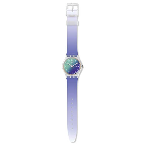 Swatch Reloj Analógico para Mujer de Cuarzo Suizo con Correa en Silicona GE718