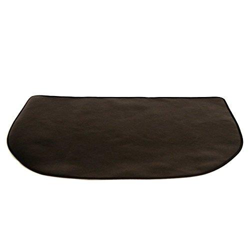TEXFIRE - Alfombra ignífuga semicircular multicapa, protectora de suelo para estufa y chimenea (120x50 cm)