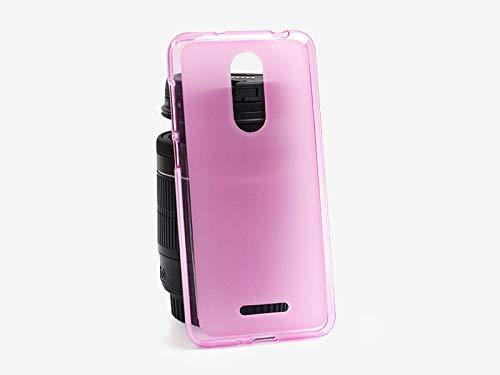 etuo Handyhülle für Coolpad Torino S - Hülle FLEXmat Case - Rosa - Handyhülle Schutzhülle Etui Case Cover Tasche für Handy