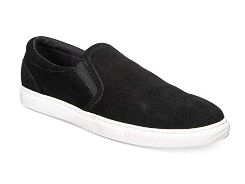 Bar III Mens Brant Slip-on Sneakers (Black, 11)