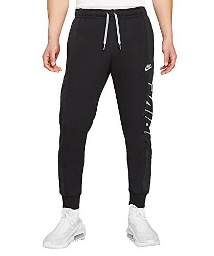 Nike Herren Sportswear Jogginhose, Schwarz/Schwarz/Partikel Grau/Weiß, Medium
