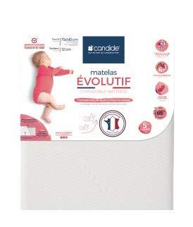 Candide 584083.0 Matratze évolutif (70x140x12 cm) Babys, weiß