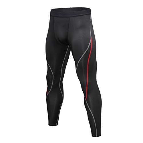 TN-KENSLY Pantalones Hombres Stretcht compresión para Hombre otoño del Basculador Gimnasio Deportes Mallas para Correr maratón Fitness elásticas Secado rápido Pantalones R M