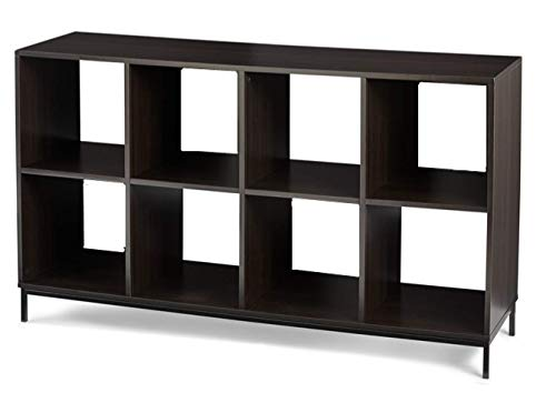 Better Homes & Gardens 8 Cube Storage Organizer with Metal Base, Espresso Multiple Finishes