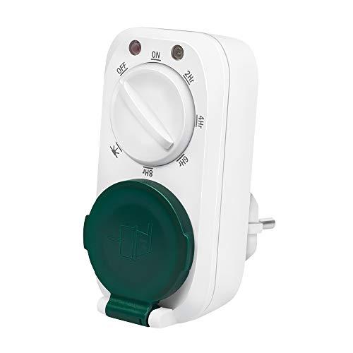 LogiLink ET0013 ET0013-Mechanische Zeitschaltuhr mit Dämmerungssensor mit 7 verschiedenen Modi/Einstellungen, IP44 Schutz für den Aussenbereich/Outdoor