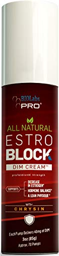 Estrogen Blocker - All Natural EstroBlock DIM Cream - Metabolize Excess Estrogen - Diindolylmethane Hormone Balance Support Topical DIM Supplement for Men Or Women - 3oz