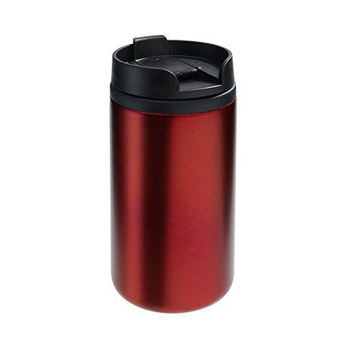 Vertrieb durch Preiswert & Gut Thermobecher Isolierbecher rot Kaffeebecher Ø7 x 14 cm Kaffeebecher to go thermodoppelwandig ca 290ml