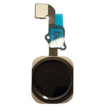 Smartex® Tasto Home Nero con Cavo Flessibile Compatibile con iPhone 6S