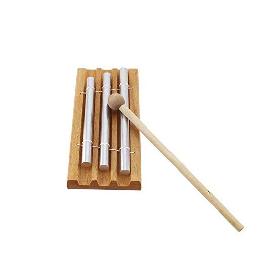 Yiyu Energie Glockenspiel 3-Ton-Schlaginstrument Trio Glockenspiel Musikpädagogisches Spielzeug Für Kinder Kinder Kleinkind x (Color : Beige)