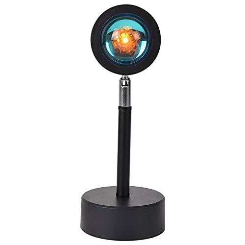 TUTR Proyector USB LED Luz de Noche Lámpara de Escritorio Proyección de Sol para Barra de Dormitorio Tienda de café Decoración de Pared Iluminación (Color : Multi-Colored)