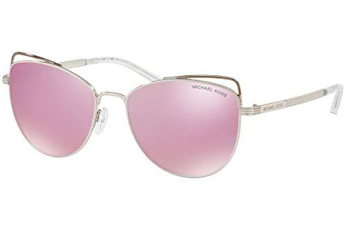 Michael Kors 11537V Gafas de Sol, Silver, 55 para Mujer