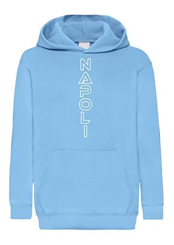Tipolitografia Ghisleri Sudadera azul con capucha con bolsillo Napoli vertical de fútbol