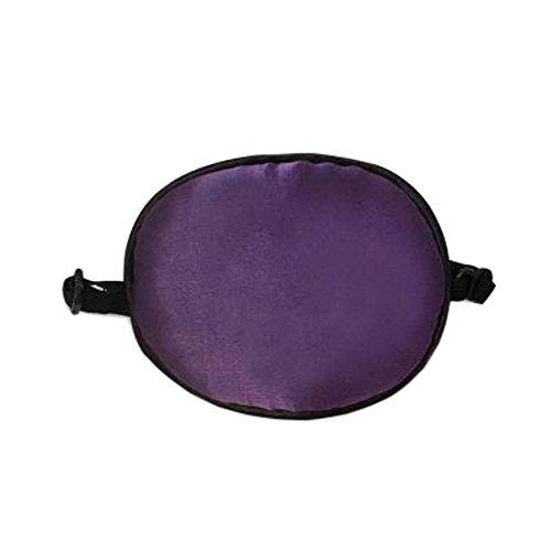 Patch d'oeil de sommeil de soie d'enfants pour le traitement d'Amblyopia d'oeil paresseux, Violet