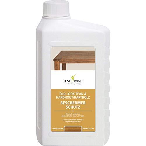 Lesli Living Teakholz Schutz für dunkles Teak, dunkles Hartholz, 1000 ml Flasche