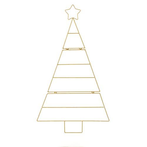 NLRHH Gitter Stand Weihnachtsbaum Home Wandbehang Weihnachten Party Urlaub Layout Vorräte auf Lieferungen Requisiten DIY (Farbe: gelb) Peng (Color : Yellow)