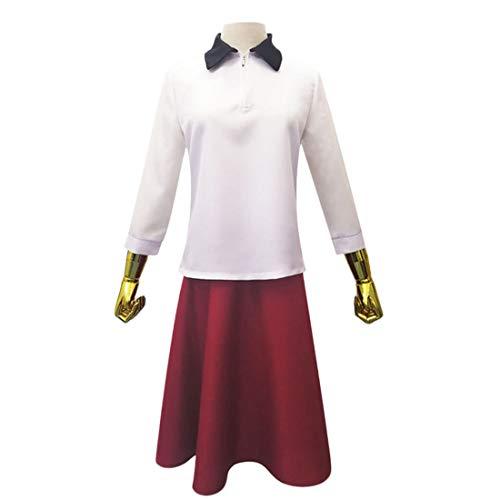 YYFS Trajes de Anime Cosplay, Damas Game Uniforms, Tops Blancos de Carnaval de Halloween y Faldas Rojas,Clothing Suit-Large