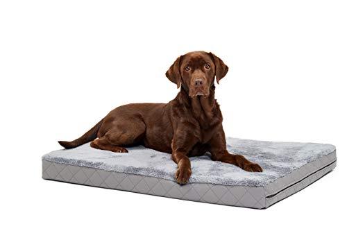 Woofery - Hundebett Hundematte Olaf - orthopädisch XL 120 x 80 Grau - Dunkelgrau