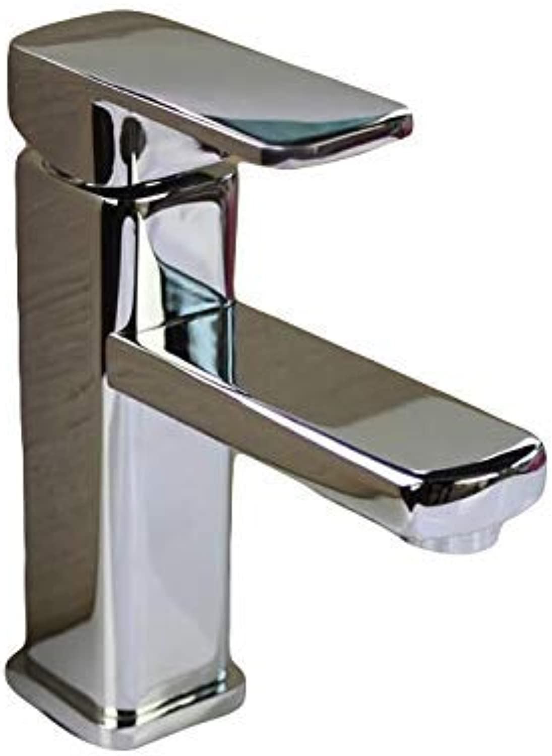 Oudan Simple Chrome Basin Faucet Hot and Cold Water Faucet Suite Bathroom Washbasin Counter Basin (color   -, Size   -)