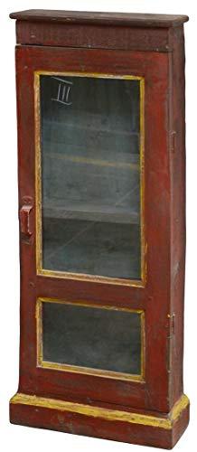 Guru-Shop Glazen Kast, Glazen Vitrine, Keukenkastje - Model 14, Bruin, 92x38x13 cm, Vitrines