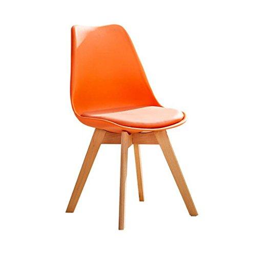 ZJ Silla de escritorio estable, creatividad, silla de ordenador para el hogar, moderna y sencilla, con respaldo de arte, silla de comedor única (color: B)