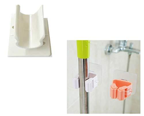takestop® houder voor bezem, van kunststof, 2 stuks, voor wandbezem en bezem, accessoires voor bezems