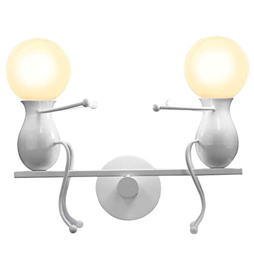 KAWELL Humanoide Creativo Lámpara de Pared Moderno Luz de Pared Simple Apliques...