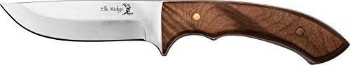 Elk Ridge Couteau d'extérieur Hunter érable Racine Manche en Bois Longueur Totale cm : 21,59, elkr de 1237