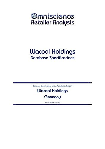 Wacoal Holdings - Germany: Retailer Analysis Database Specifications (Omniscience Retailer Analysis - Germany Book 102473) (English Edition)