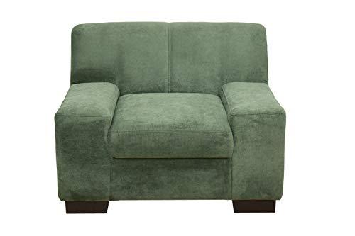 DOMO Collection Norma Sessel / Größe 101 x 85 x 74 cm (BxTxH) / Bezug Polyester grün