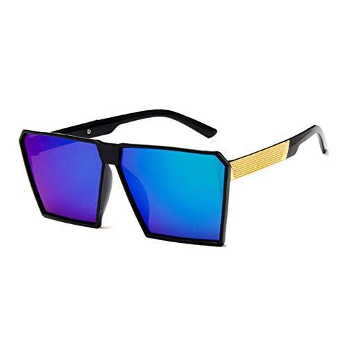 CCTYJ Zonnebril Oversize Vierkante Zonnebril Vrouwen Zwart Zonnebril Mannen Fotochrome Spiegelglazen
