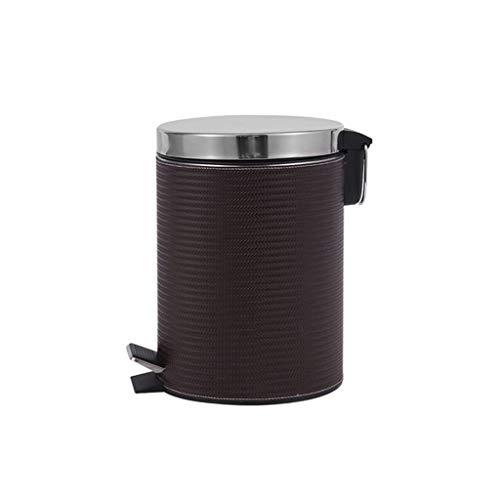TJLMZ Bote de Basura de Acero Inoxidable con Sistema de Control de olores, Cubo de Basura de 8 litros for la Cocina, Oficina, hogar