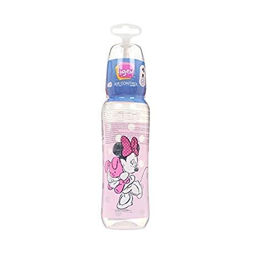 Disney Baby 80601918 - Biberón irrompible de silicona, diseño Minnie, para 6-18 meses, 330 ml