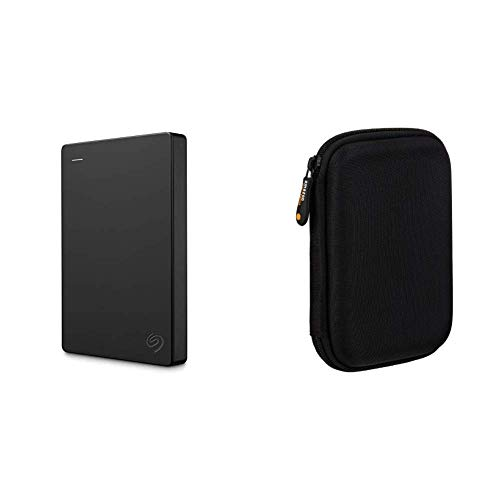 Seagate Portable 2TB External Hard Drive Portable HDD USB 3.0 for PC Laptop and Mac (STGX2000400) & AmazonBasics External Hard Drive Portable Carrying Case