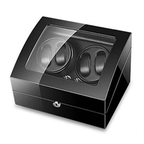 XZQ Enrollador De Reloj, Caja De Enrollador De Reloj Automático para 4 Relojes + 6 Almacenamientos Adicionales, Almohadas Flexibles E Iluminación LED (Color : A, Size : 350x260x210mm)