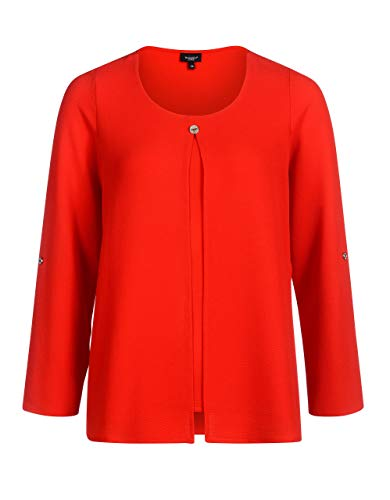 Bexleys Woman by Adler Mode Bluse in Twinset-Optik Rot 38
