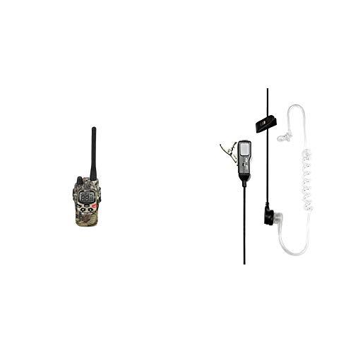 Midland, G9 PRO, Ricetrasmittente Walkie-Talkie Dual Band, 40 Canali PMR 446, 69 Canali LPD & Midland MA31-L Microfono con Mono Auricolare Pneumatico, Accessorio