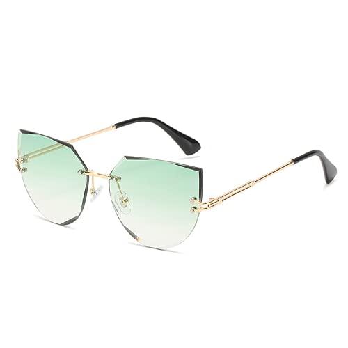 2021 Gafas de sol de lady sin marco Adecuadas para la personalidad de tiro de la calle cortando gafas de sol