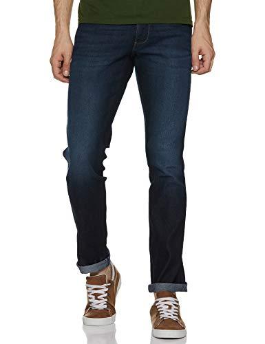 Wrangler Men's Slim Fit Jeans (W38472W22SMU_Jsw-Indigo_34W x 33L)