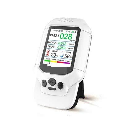 CHENG Inteligente COVT Temperatura Portátil Medidor De Calidad del Aire, PM2.5 / HCHO/Humedad Monitor De Calidad del Aire AQI Análisis Tester Detector De Gas Analizador De Medición