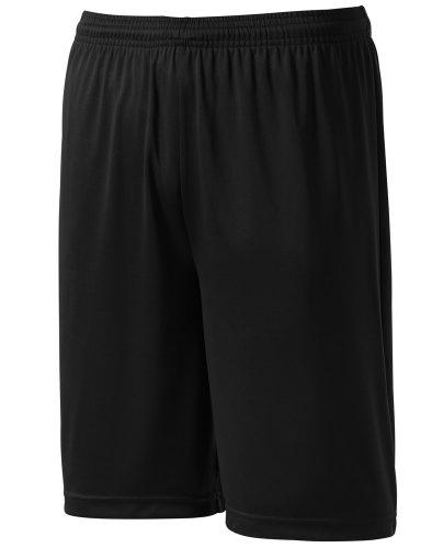 Joe's USA Youth Moisture Wicking Basketball Shorts-M-Black